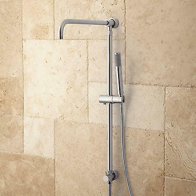 Signature Hardware Hawick Shower System Riser with Hand Shower in Brushed Nickel