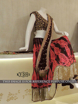Indian Lehenga choli Bollywood Designer Traditional bridal wedding Party Wear.!