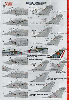 Authentic Decals 1/48 DASSAULT RAFALE B/C/M with Mission Markings