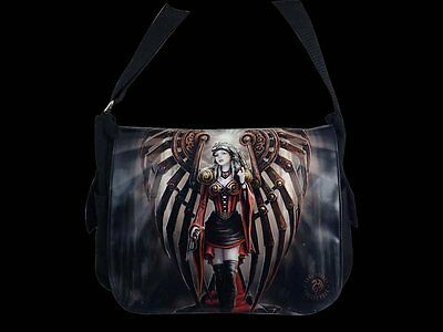 "Anne Stokes Messenger Bag: ""Avenger"" Gothic Angel"