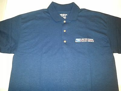 USPS Embroidered Polo Shirt S-3XL Navy Blue  50/50 USPS2 SHIRT