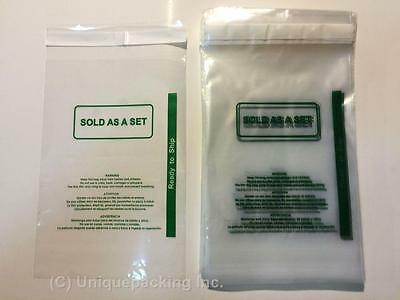 300 Pcs 6x9 (PS) Clear Permanent Seal Poly Bags with Suffocation Warning