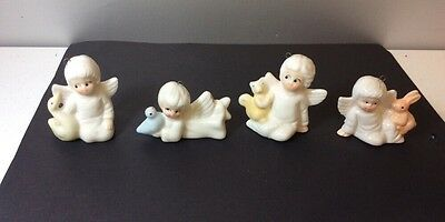 Vintage Bone China Angel Ornaments Christmas Around the World EUC