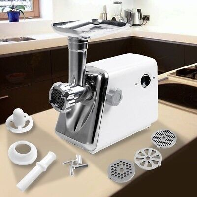 NEW Electric Meat Grinder 1300 W 8 Pc Cutting Sausage Food Filling Jerky Burgers