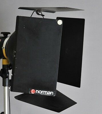 """Two-NORMAN BD410 Barndoors for 5E & 5E2 10"""" Two-FFH-10 gel frame and holders"""