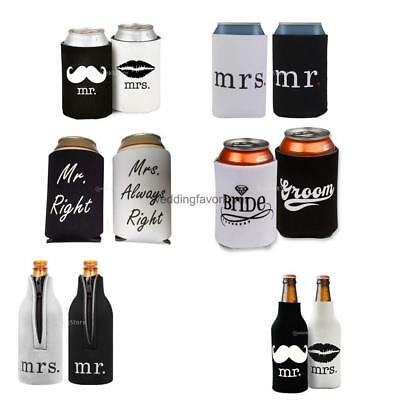 Wedding Party Koozies Beer Wine Bottle Can Cooler Sleeves Wrap Holders