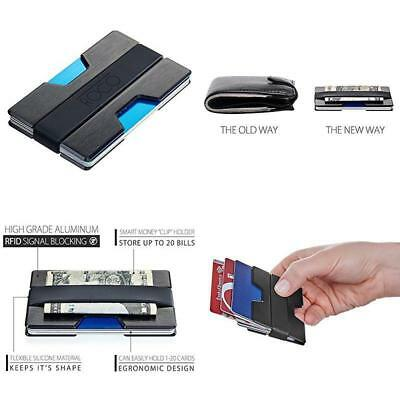 RFID Blocking Slim Wallet Aluminum Thin Pocket Money ID Men Holder Clip Case
