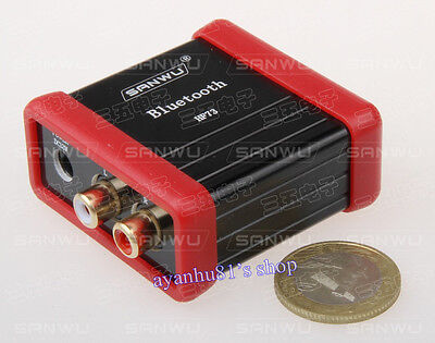 DC 12V Wireless Bluetooth Audio Receiver Box RCA Stereo Sound Module for Car AMP