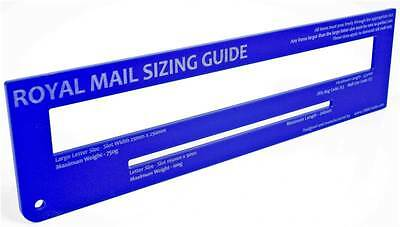 Royal Mail PiP PPI Postal Template Letter Size Charge Guide - Blue
