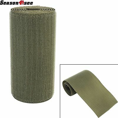 11cm x1m Utility Tactical Military Camo DIY Hook Fastener Tape Strap Olive Drab