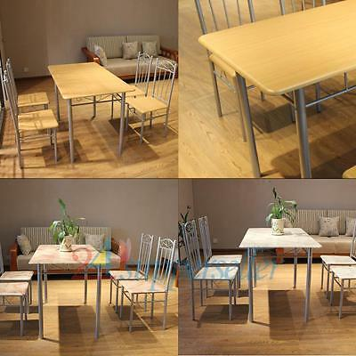 Elegant Marble Dining Table Set With 4 Chairs Dining Room Contemporary Furniture