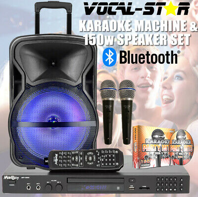 Vocal-Star VS-600 CDG DVD HD Karaoke Machine Bluetooth 2 Microphones 150 Songs