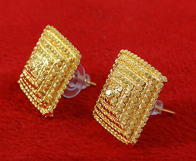 Goldplated Indian Women Stud Earring Set Traditional Bollywood Ethnic Jewelry