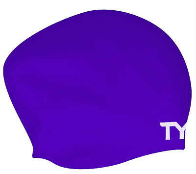 Tyr Long Hair Wrinkle Free Silicone Cap Purple Silicone