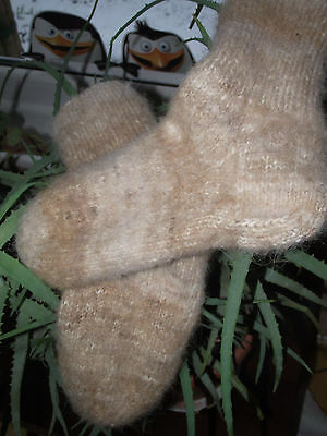 Handmade knitted woollen socks