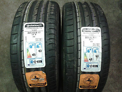 225/45 R17 Continental Sport Contact 3 SSR Runflat X2  91Y  *NEW*  WEB ONLY