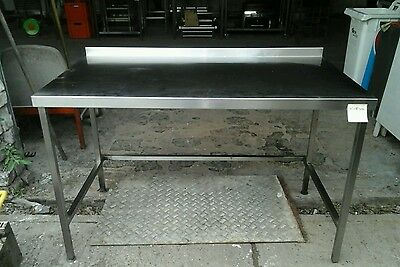 Stainless Steel Preparation Table  Commercial Kitchen Restaurant 142x80