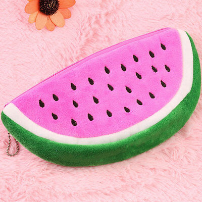 Watermelon Plush Stationery Pencil case Pen Purse Bag Lovely Cosmetic Bag ZY