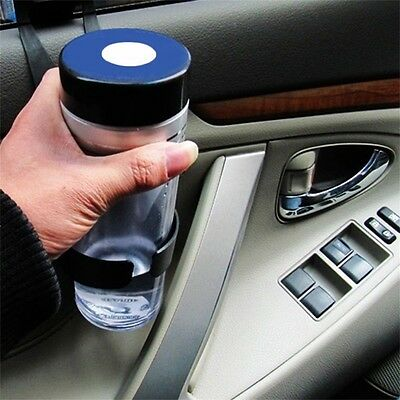 Black Universal Vehicle Car Truck Door Mount Drink Bottle Cup Holder Stand ZY