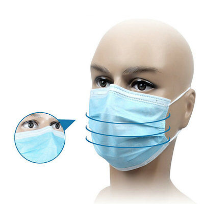 50Pcs Disposable Medical Dustproof Surgical Face Mouth Masks Ear Loop New ZY
