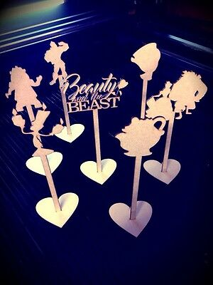 Beauty & The Beast Freestanding Wedding Table Numbers Wooden Personalised Unique