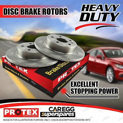Pair Rear Protex Disc Brake Rotors DR644 For SUBARU Forester SF ABS Non ABS