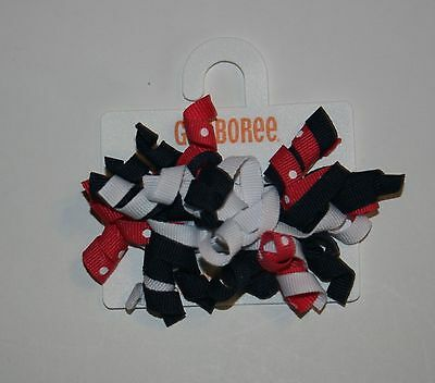NWT Gymboree PUPPY SCHOOL Red Patent Clips Barrettes 2pk NEW