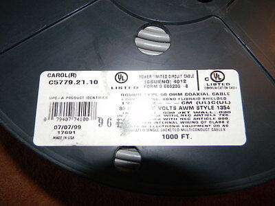 RG58/U 50 Ohm Coaxial Cable 1000 Ft. Spool