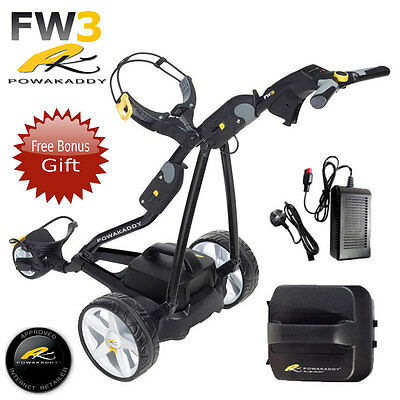 Powakaddy Fw3 Electric Golf Trolley + 18 Hole Battery And Charger New 2017 Style