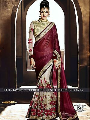Exclusive Bollywood style Indian Party Wear Sari Bridal Wedding Pakistani Saree