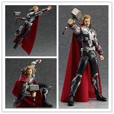 New PVC Figma No.216 Thor The Avengers Action Figure Marvel Toy Gift 16cm+box