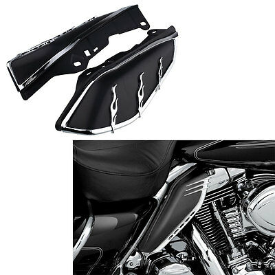 Hot Motorcycle AirMaster Mid-Frame Air Deflector Black For Harley FLHR