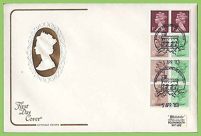 G.B. 1983 50p booklet pane on Cotswold First Day Cover, Windsor