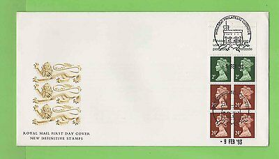 G.B. 1993 £1 Walsall complete booklet pane Royal Mail First Day Cover,Windsor