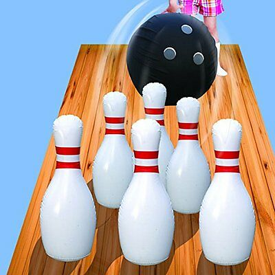 Giant Inflatable Bowling Set Kids Outdoor Indoor Fun Games Oversized Toys Family