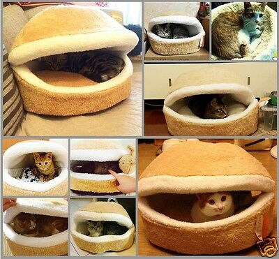 Chat Animal Couchage Lit Maison Coupe-vent Cage Kitten Refuge Hamburger Design