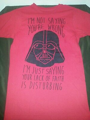 "Star Wars Darth Vader ""i Find Your Lack Of Faith Disturbing"" Shirt Mens Small"