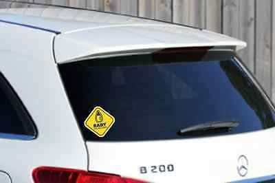 WINDOW STICKER BABY ON BOARD WARNING DECAL SIGN CHILD SAFETY CAR VEHICLE 130mm