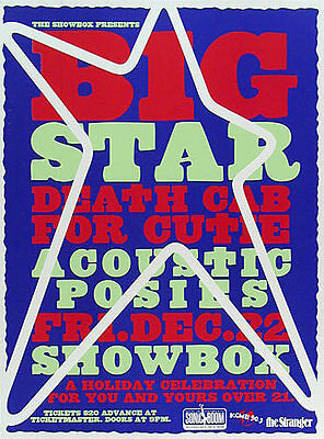 Early Death Cab For Cutie Big Star Showbox Seattle Washington 2000 Poster