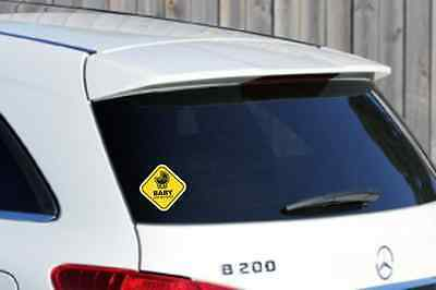 WINDOW STICKER BABY ON BOARD WARNING DECAL SIGN CHILD SAFETY CAR VEHICLE 60mm