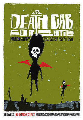 Death Cab for Cutie Nada Surf Showbox Seattle WA 2003 Poster Patent Pending