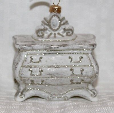 Antique Dresser Handblown Glass CHRISTMAS Ornament NIB NORDSTROM at Home $28