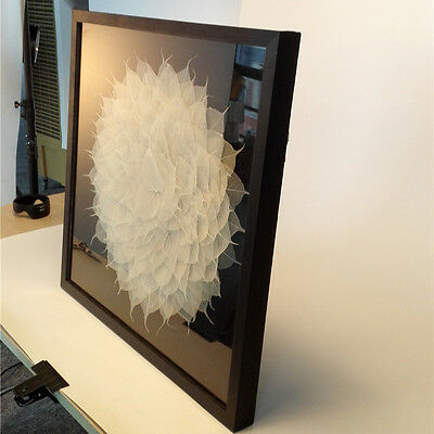 Modern wall art  framed 3D shadow box Linden Leaves  wall décor  no oil painting