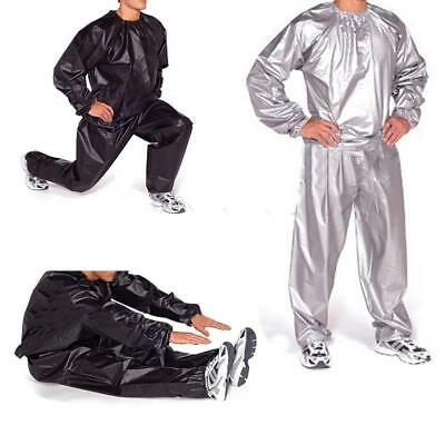 Heavy Duty Gym Workout Fitness Sauna Sweat Suit Slimmer Weight Loss Anti-Rip