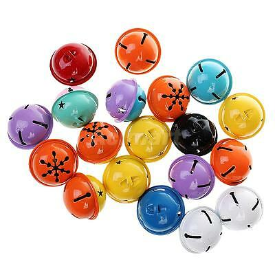 20pcs 40MM Colored Snowflake Metal Jingle Bell for Craft Jewelry Pendants