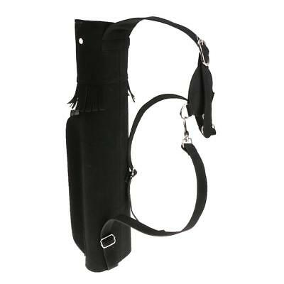 Traditional Hunting Compound Bow Back Quiver Archery Arrow Bag Holder Tube