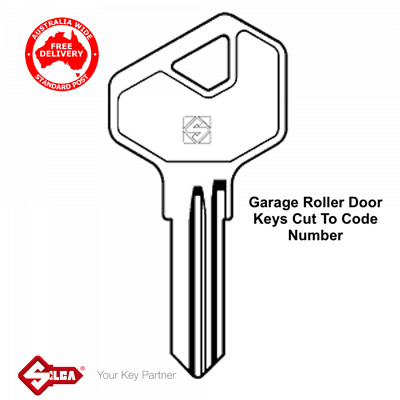 Garage Roller Door Key Cut To Code Number Suits L&F, Gliderol,B&D Keys-FREE POST