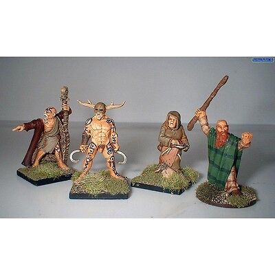 Pack Of 4 Celtic Druids Miniatures - Warlord Games Celt 28mm 1 Hail Ceaser