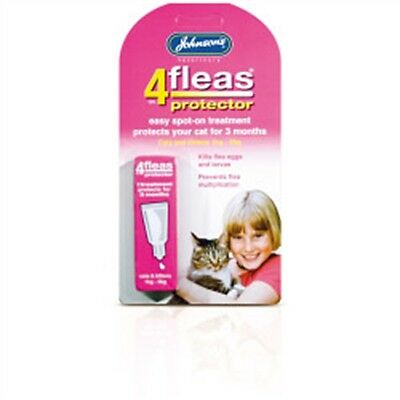 4fleas Protector For Cats & Kittens - Johnsons Vet & Spot-on Treatment Pet Care