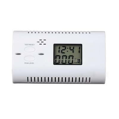 Battery-Operated CO Carbon Monoxide Detector Alarm Human Voice Warning Y9M5